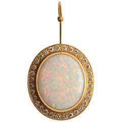 Burle Marx Opal Pendant with Diamonds