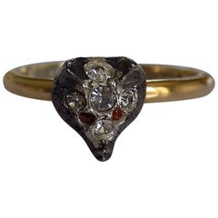 Victorian Gold Silver Paste Fox Ring