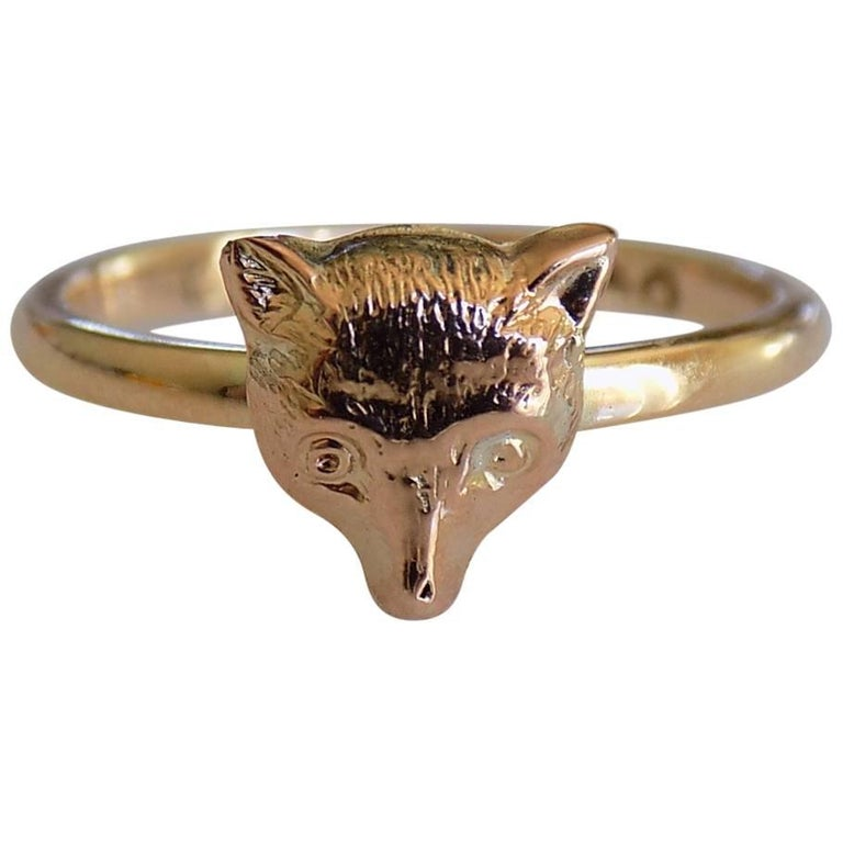 Victorian Gold Fox Ring