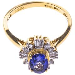 18 Carat Gold 1.27 Carat Tanzanite and Diamond Cocktail Ring