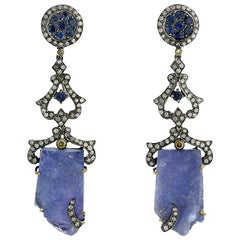 Designer Rough Tanzanite Earring