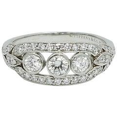 Tiffany & Co. .76 Carat Diamond Platinum Ring