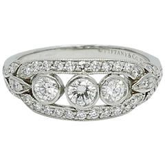 Tiffany & Co. .76 Carat Diamond Platinum Ring