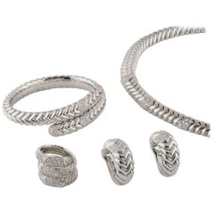 Bulgari White Gold Spiga Diamond Suite