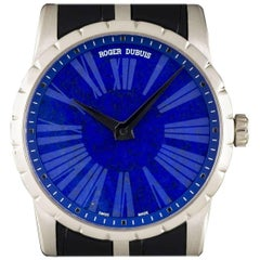 Roger Dubuis White Gold Lapis Lazuli Dial Excalibur Limited Edition Watch
