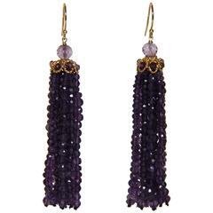Marina J Amethyst Tassel Earrings