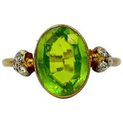 Antique Peridot Ring