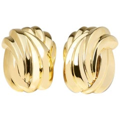 Tiffany & Co. 18 Karat Yellow Gold Vintage Clip-On Earrings