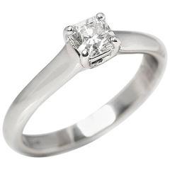 Tiffany & Co. Diamond Platinum Lucida Ring