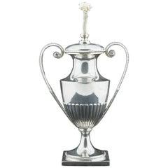 Antique Fabergé Silver Neoclassical Table Lighter, Workmaster Konstantin Wäkevä