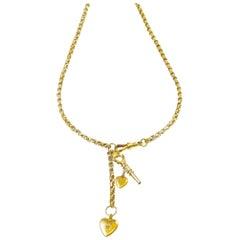 Vintage Charm Heart Necklace