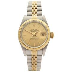 Rolex Ladies Yellow Gold Stainless Steel Datejust Automatic Wristwatch, 1994
