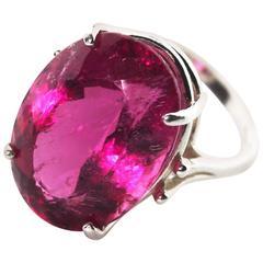 Brilliant Rubelite Tourmaline Ring