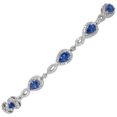 Ceylon Sapphire Bracelet 5.74 Carat