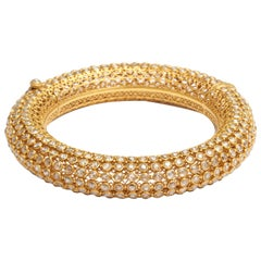 Indian Rose Diamond Bangle