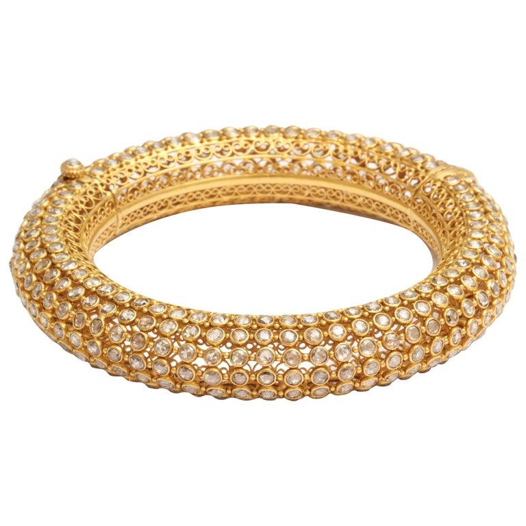 Indian Rose Diamond Bangle 1