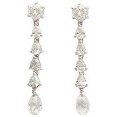 Fancy Cut Diamond Drop Earrings