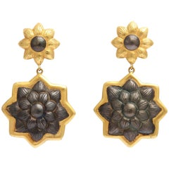 Rebecca Koven Floral Earrings