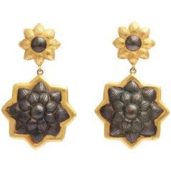 Rebecca Koven Floral Earrings