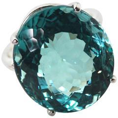 Flawless Aquamarine Ring