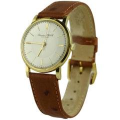 IWC yellow Gold manual wind wristwatch, 1962