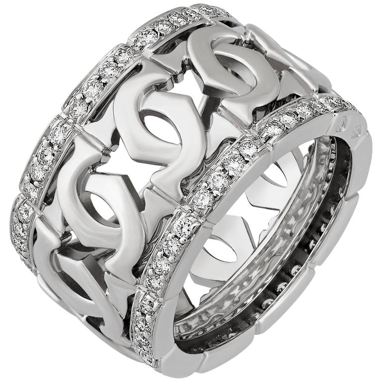 Cartier  Double C Diamond Wide Band