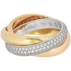 Cartier Rolling Ring with Diamonds