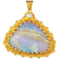 Gold and Opal Pendant