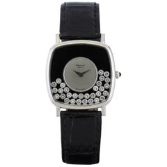 Chopard White Gold Happy Diamonds Manual Wind Wristwatch Ref 2106