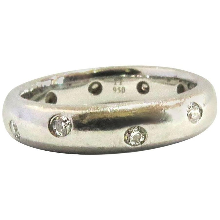 Tiffany & Co. Etoile Diamond Platinum Eternity Band Ring