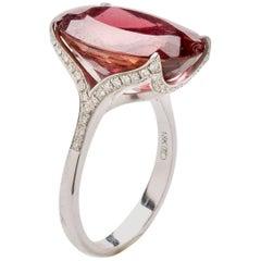 Diamond Tourmaline Cocktail Ring