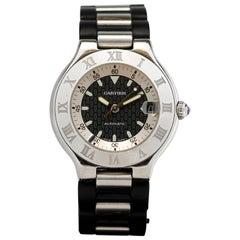 Cartier Stainless Steel 21 Chronoscaph Ref W10197U2 quartz Wristwatch
