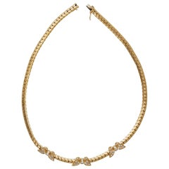 Van Cleef & Arpels Butterfly Diamond Yellow Gold Necklace