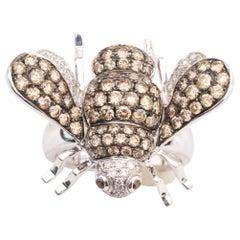 Ornate Bee Diamond Cocktail Ring