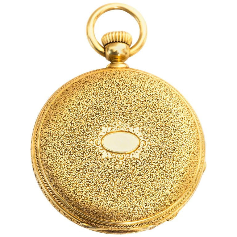 1880s Patek Philippe Yellow Gold Pocket Watch 1