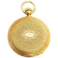 1880s Patek Philippe Yellow Gold Pocket Watch