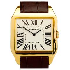 Cartier Yellow Gold Santos Dumont Wristwatch, circa 2005