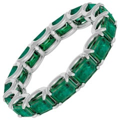 Emerald Cut Emerald Eternity Band