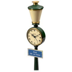 Jaeger-LeCoultre Rue De La Paix Green Table Clock, circa 1975