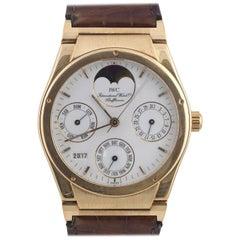 IWC Yellow Gold Ingenieur Perpetual Calendar Moon Phases Self-Winding Wristwatch