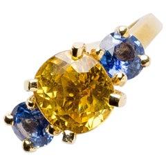 Feminine Sapphire Ring