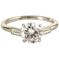 Cartier Paris Platinum Diamond 1.45 Carat E vvs2 Ring
