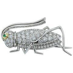 Tiffany & Co. Diamond Grasshopper Pin