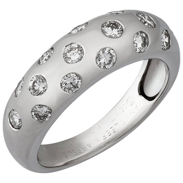 Van Cleef & Arpels Diamond White Gold Ring