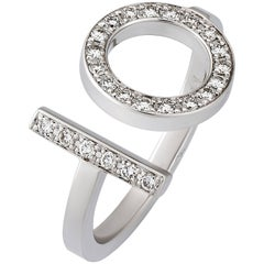 Hermes Diamond White Gold Ring