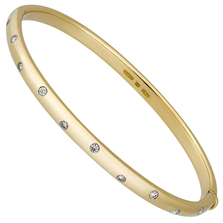 Tiffany & Co. 18 Karat Yellow Gold Etoile Diamond Bracelet For Sale