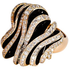 De Grisogono Diamond and Pink Gold Fashion Ring
