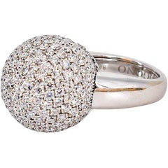 De Grisogono Diamond and White Gold Dome Ring