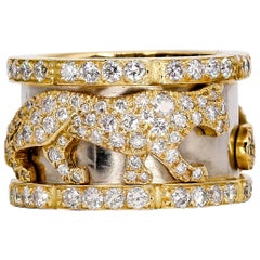 Cartier Panther Diamond and Gold Band