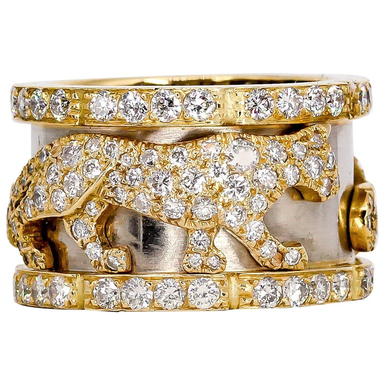 Cartier Panther Diamond and Gold Band 1